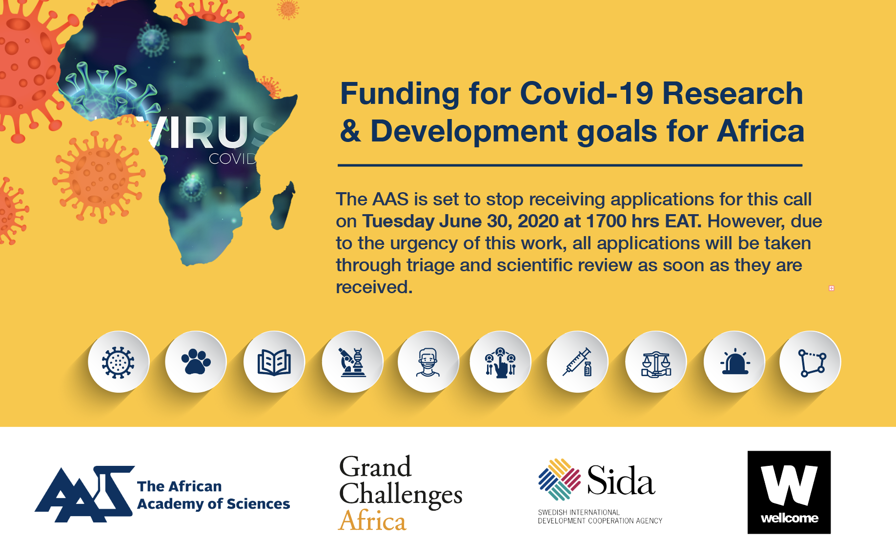 AAS Funding for Covid-19 Research & Development Goals for Africa